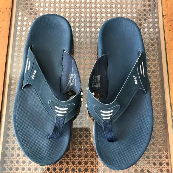 56e616a3cc6 Reef Fanning Blue Flip Flops Sandals Men s Size 13.  M 5a9deb76739d488dbdd53454